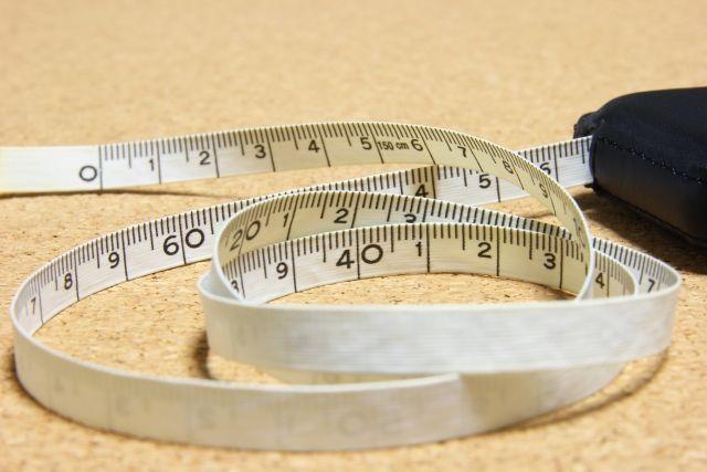 サイズを測るためのメジャー